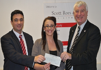 Scott Rees donation to Queens Courts Hospice