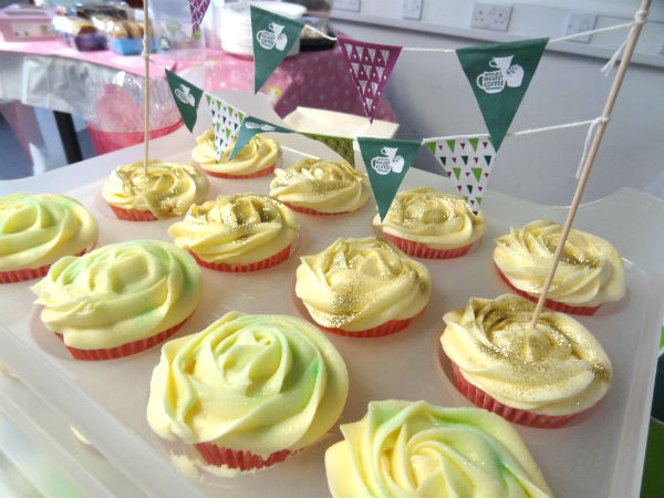 Yellow cup cakes for Macmillan Coffee Morning 2017 at Scott Rees & Co