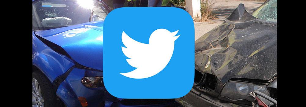 Car crash social media