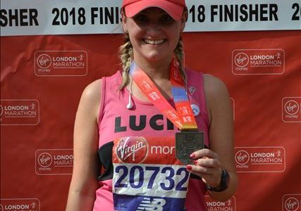 Lucie Illingworth of Scott Rees & Co at the London marathon 2018