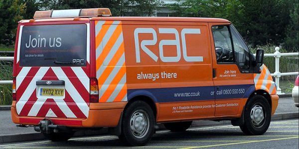 RAC van parked on the side of the road