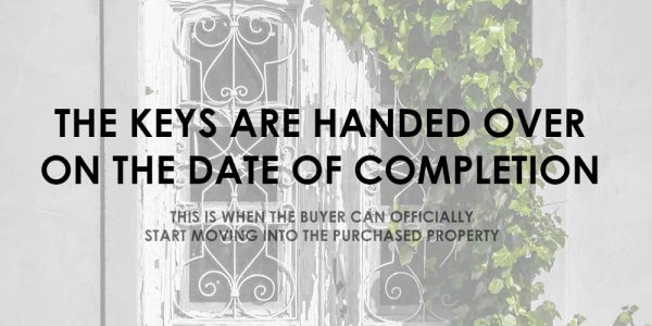 Did you know? - The keys are handed over on the date of completion