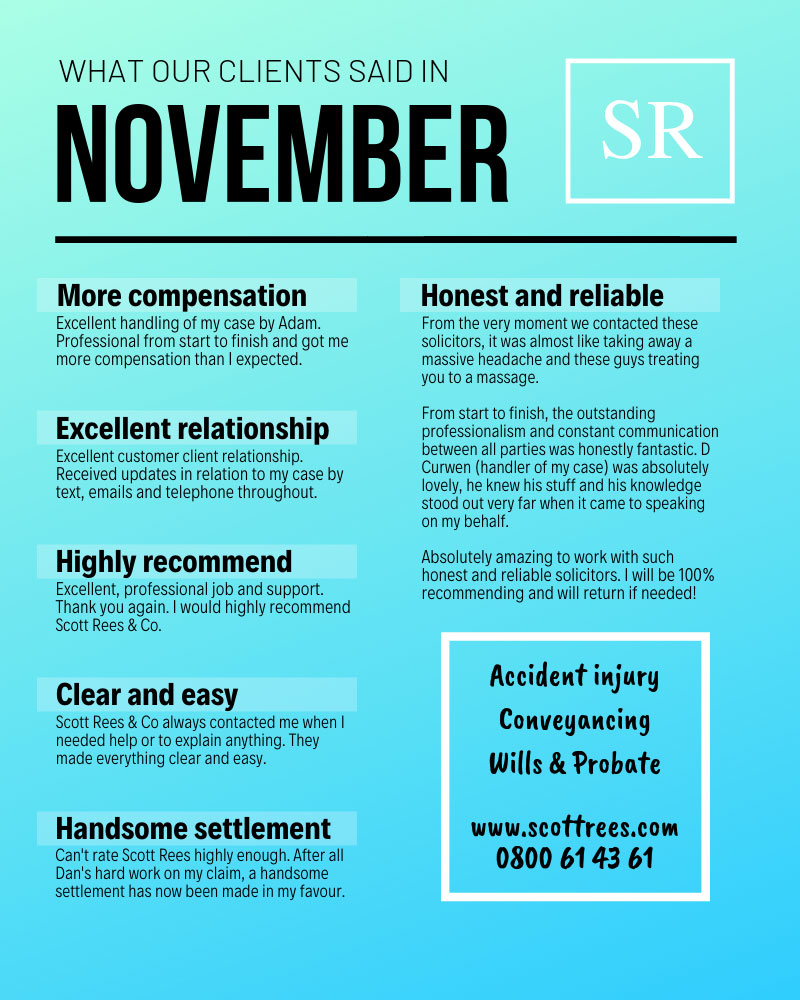 What our clients said in November 2018
