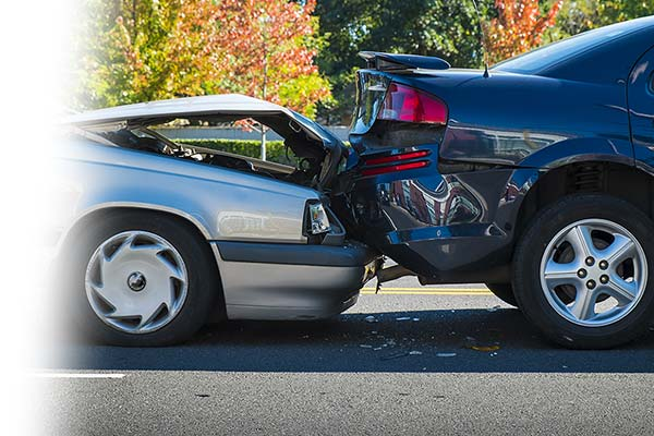 Rear end car collision