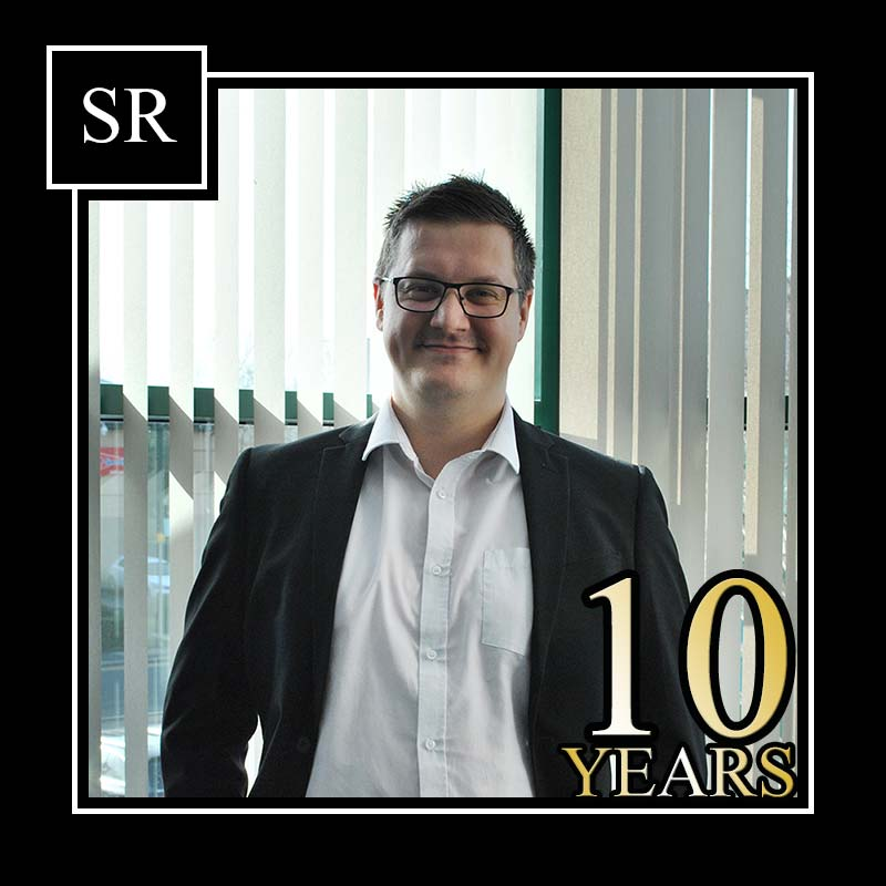 Steven Dalby reaches the 10 year service milestone at Scot Rees & Co