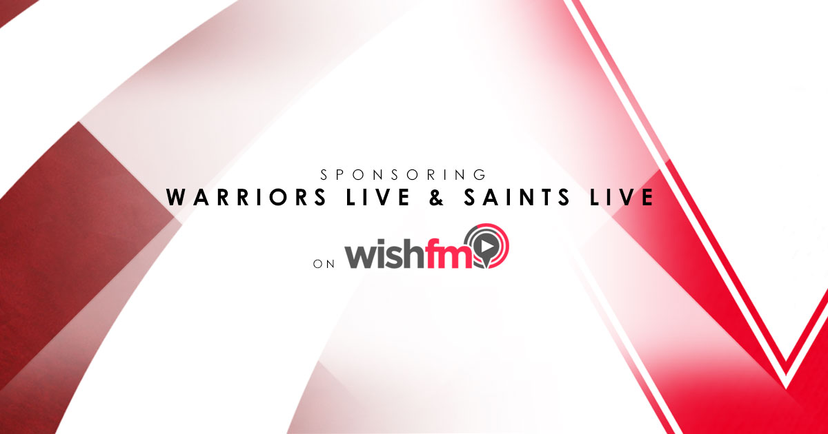 Scott Rees sponsoring Warriors Live and Saints Live on Wish FM