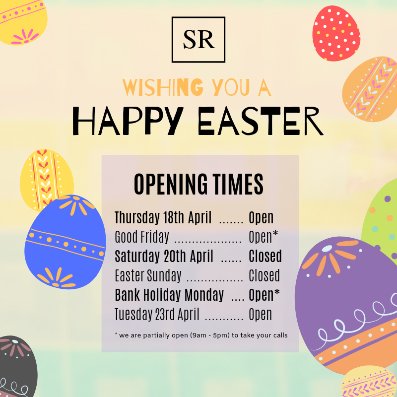 Easter 2019 Opening times for Scott Rees & Co