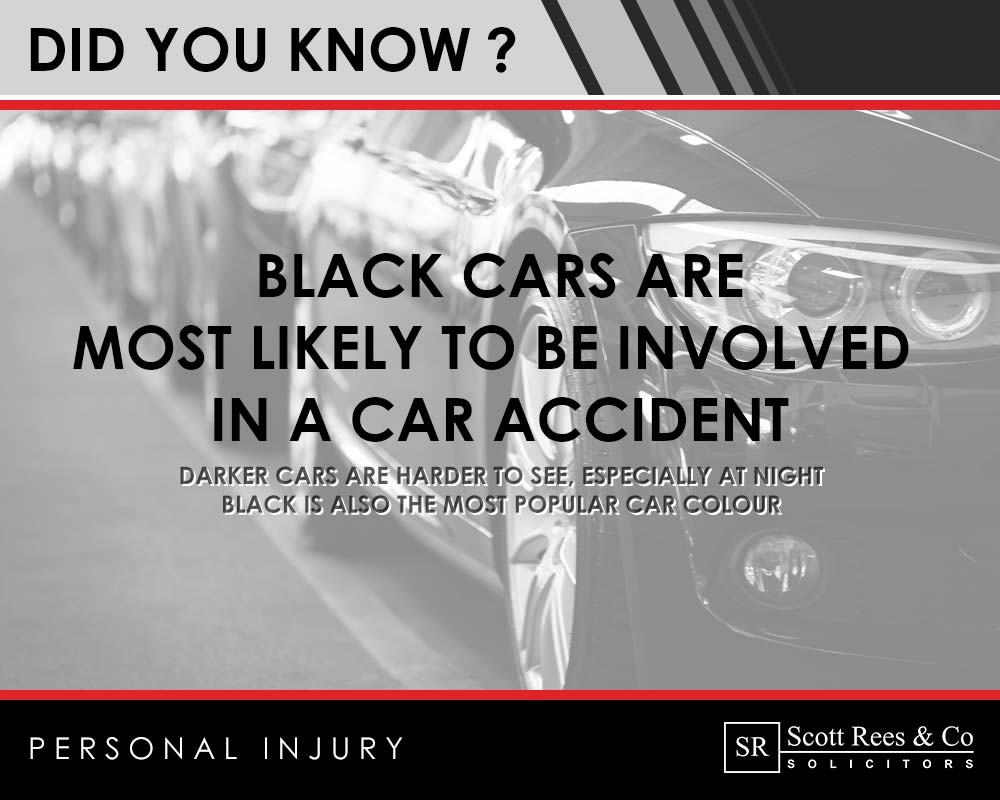 Did you know? Black cars are most likely to be involved in a car accident