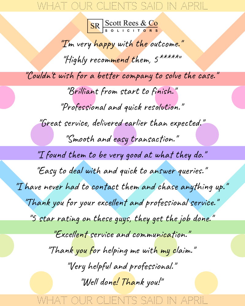 What our clients said in April 2019
