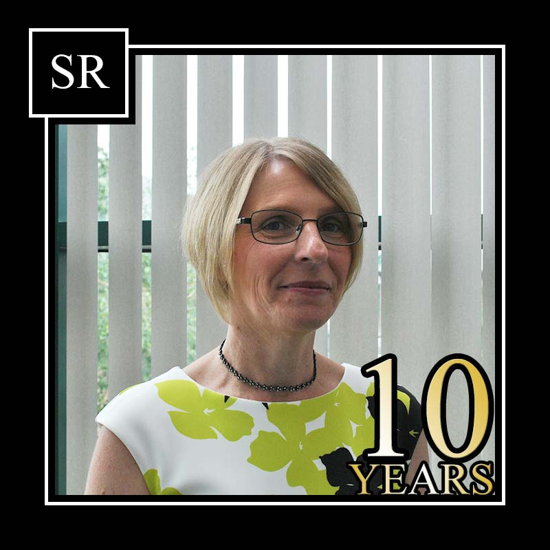 Lesley Walker reaches 10 years at Scott Rees