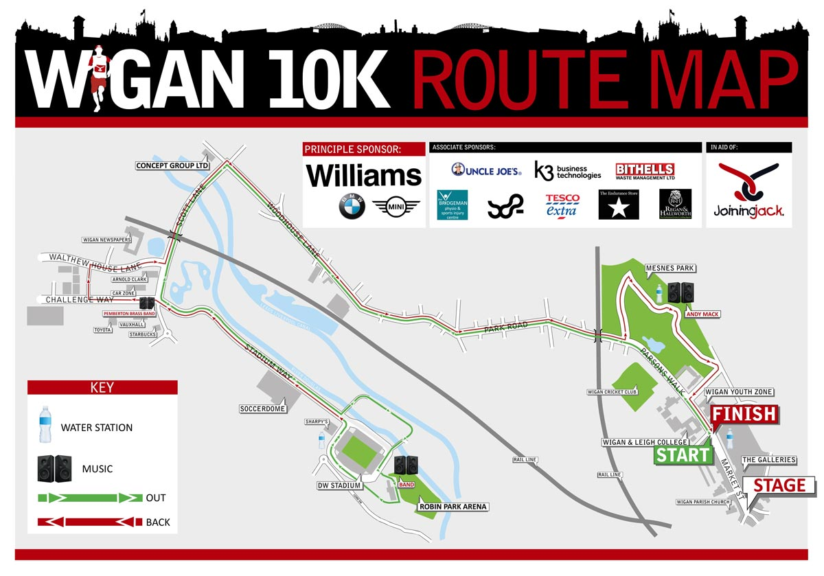 Wigan 10k route 2019
