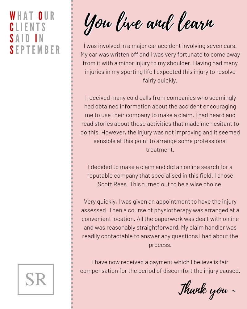 What our clients said in September 2019
