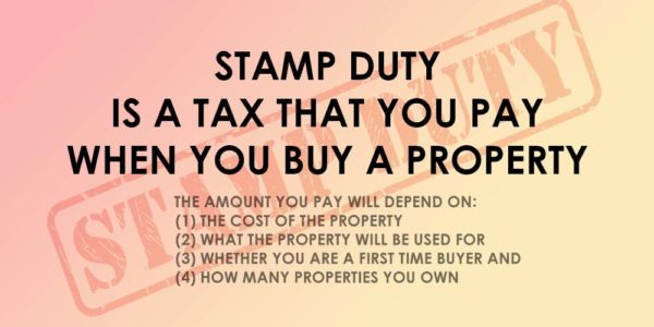 Stamp duty is a tax you pay when buying a property