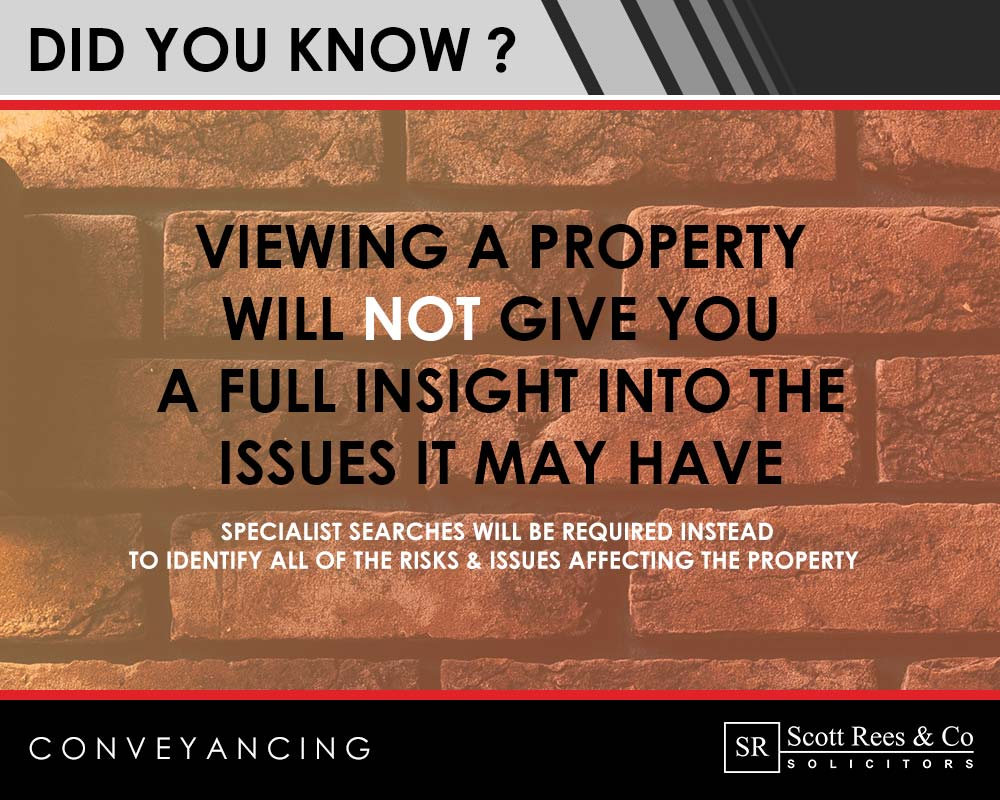 Viewing a property will not show all the issues it has