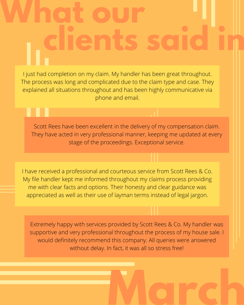 What our clients said in March 2020