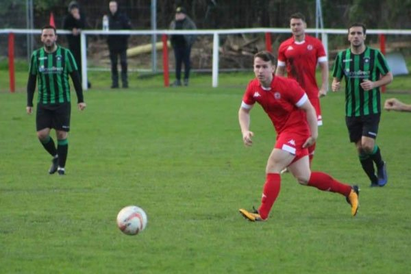 Tom Molyneux playing for Ashton Town AFC