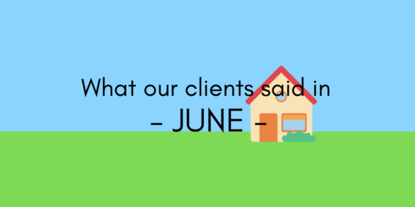 What our clients said in June 2020