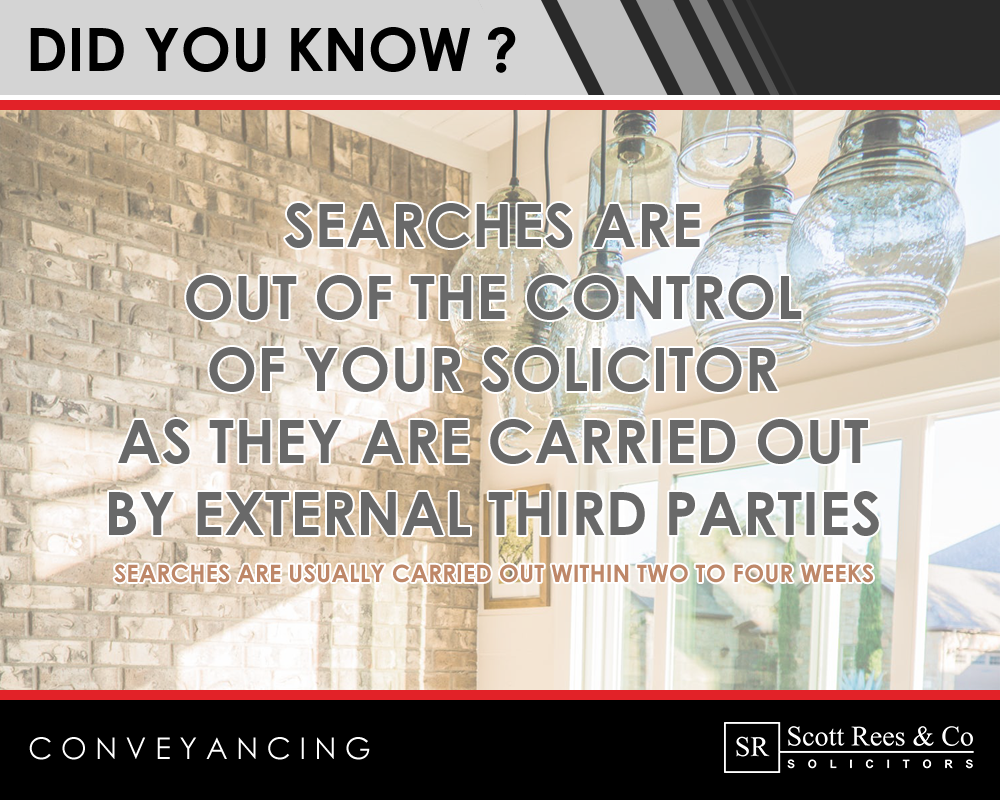 Did you know that searches are out of the control of your solicitors?
