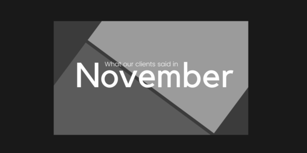 What our clients said in November 2020