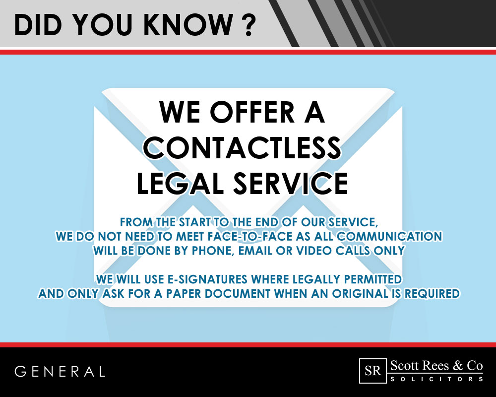 Did you know we offer a contactless legal service?