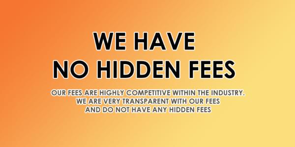 No hidden fees at Scott Rees & Co